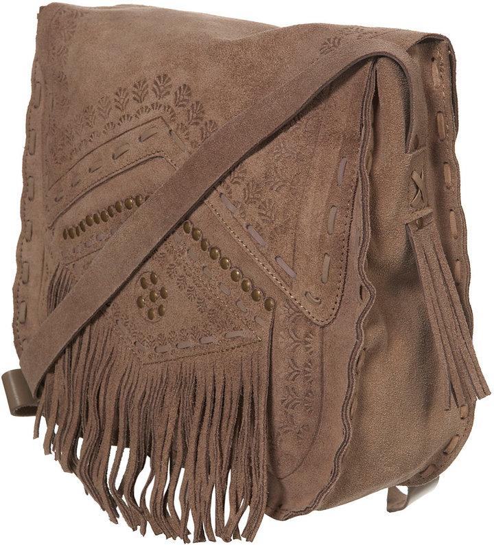 Nomad Tooled Leather Satchel
