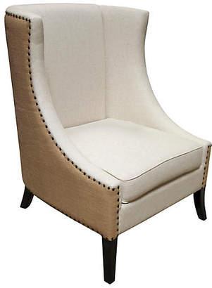 Noir Aiden Wingback Chair