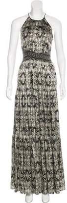 L'Agence Printed Maxi Dress