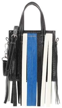 Balenciaga Bazar Fringes XXS leather shopper