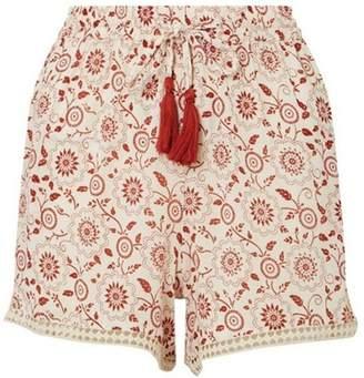 Dorothy Perkins Womens *DP Beach Ivory Printed Lace Trim Beach Shorts