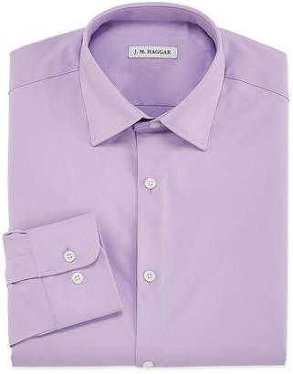 Haggar Mens Spread Collar Long Sleeve Stretch Moisture Wicking Dress Shirt - Slim