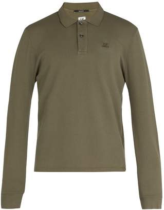 C.P. Company Long-sleeved cotton polo shirt