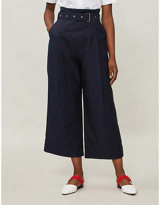J Brand Fashion Wide cropped cotton trousers