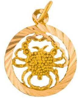 21K Cancer Pendant Necklace