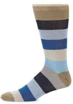 Saks Fifth Avenue Colorblock Cotton Mid-Calf Socks
