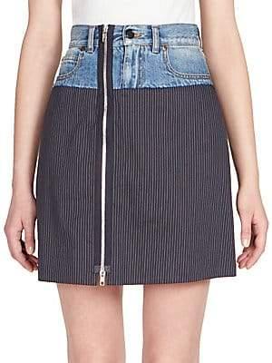 Maison Margiela Women's Pinstripe Denim Skirt