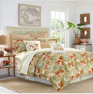 Tommy Bahama Home Loredo Gardens 4-Pc. Medium Orange King Comforter Set Bedding