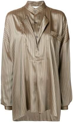 Faith Connexion stripe oversize blouse