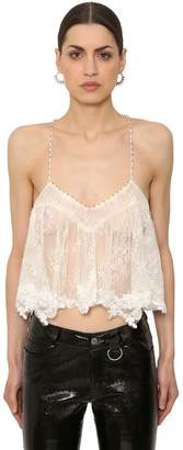 Zadig & Voltaire Sheer Lace Crop Top