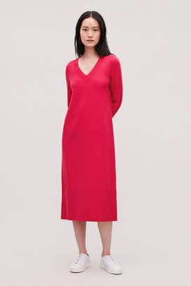Cos LONG WOOL-KNIT JUMPER DRESS