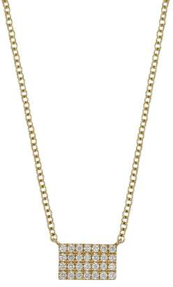Bony Levy 18K Yellow Gold Diamond Bar Pendant Necklace - 0.12 ctw