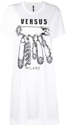 Versus logo print T-shirt dress