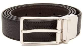 Dunhill Grained Leather Belt - Mens - Black
