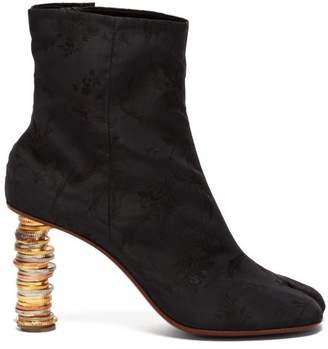 Vetements Geisha Split Toe Coin Heel Ankle Boots - Womens - Black