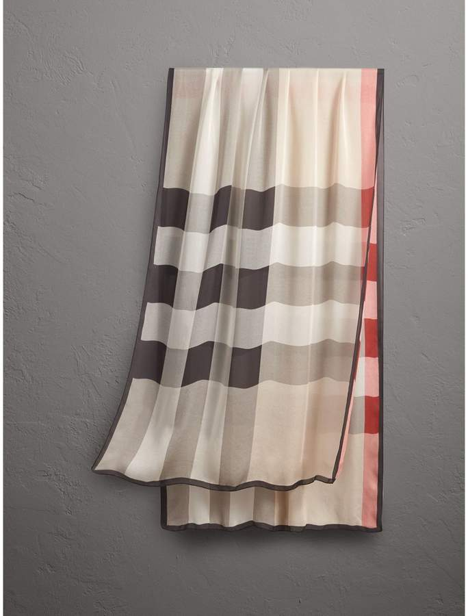 Burberry Lightweight Check Silk Scarf