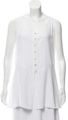 Ghost Sleeveless Eyelet Top