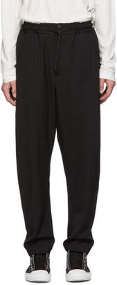Isabel Benenato Black Wool Lightweight Trousers