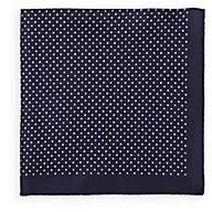 Fairfax Men's Reversible Silk Pocket Square-Navy