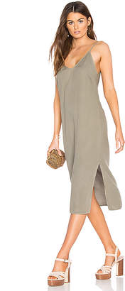 Splendid Slit Tank Dress in Olive $98 thestylecure.com