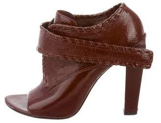 Alexander Wang Patent Leather Peep-Toe Booties