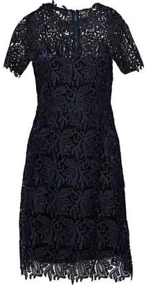 Elie Tahari Ophelia Metallic Guipure Lace Dress