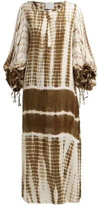 Binetti Love Good Vibrations Tie Dye Cotton Kaftan - Womens - Brown Print