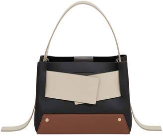 Yuzefi Biggy Colorblock Leather Top-Handle Shoulder Bag