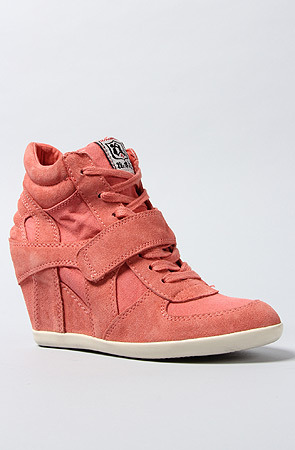Ash Shoes The Bowie Sneaker in Peach Suede Canvas