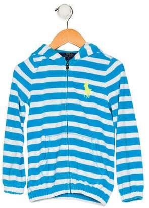 Polo Ralph Lauren Girls' Fleece Striped Hoodie