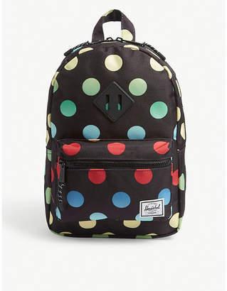 Herschel Heritage multi-coloured dots backpack