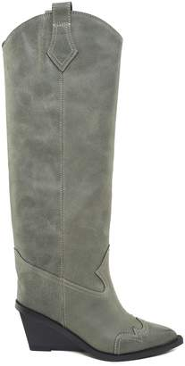 MM6 MAISON MARGIELA Western Vintage-leather Knee-high Boots