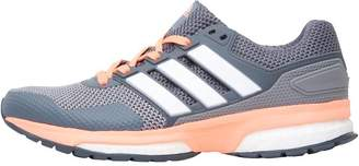 outlet store 5cdec 65c4a adidas Womens Response 2 Boost Neutral Running Shoes Grey White Sun Glow
