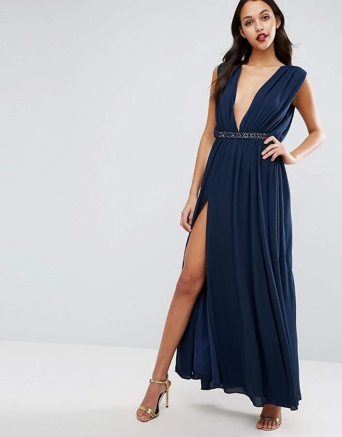 AsosASOS Embellished Waist Maxi Dress