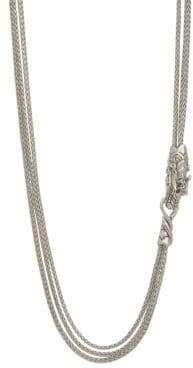 John Hardy Legends Naga Silver and Blue Sapphire Multi Chain Necklace