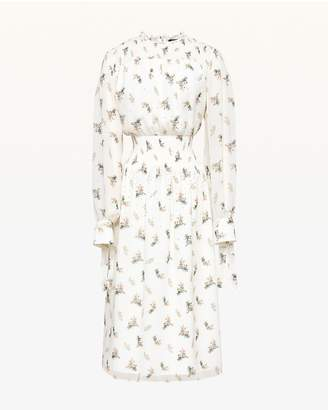 Juicy Couture Watercolor Floral Smocked Midi Dress