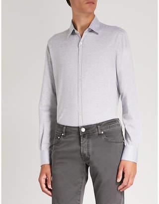 Canali Modern-fit cotton-jersey shirt