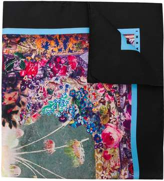Marni floral embroidered scarf