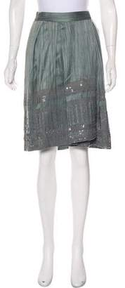 Dries Van Noten Embellished Knee-Length Skirt