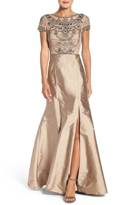 Women's Adrianna Papell Embellished Mesh & Taffeta Ballgown $299 thestylecure.com