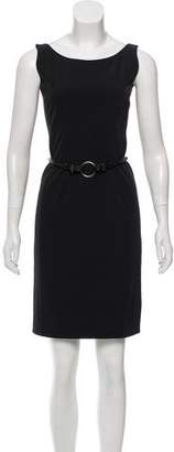 Prada Belted Sleeveless Dress
