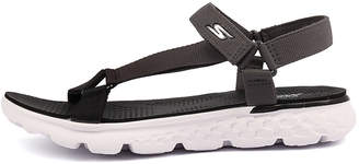 Skechers 14677 on-the-go-jazzy Black-grey Sandals Womens Shoes Casual Sandals-flat Sandals