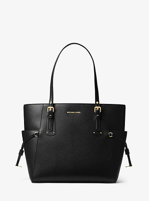 Michael Kors Voyager Crossgrain Leather Tote