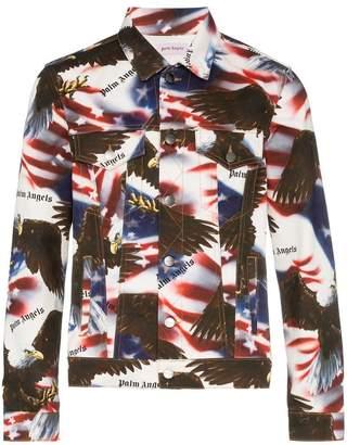 Palm Angels eagle print denim jacket