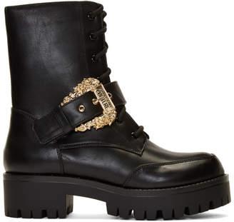 Versace Black Western Buckle Brenda Boots