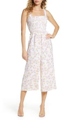 Ali & Jay Rose Bowl Floral Crop Wide Leg Jumpsuit