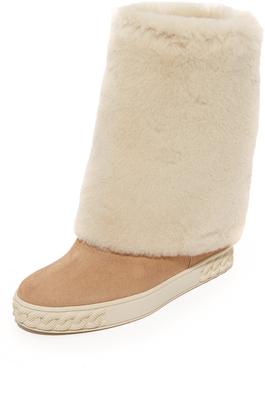 Casadei Suede Boots $1,250 thestylecure.com