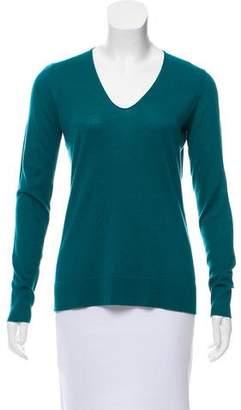 Barneys New York Long Sleeve Silk Sweater