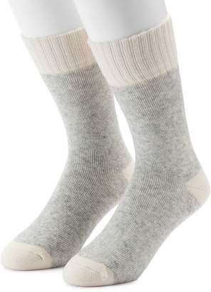 Croft & Barrow Men's 2-Pack Wool Blend Boot Crew Socks