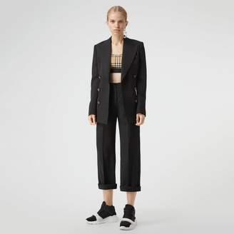 Burberry Vintage Check Stretch Jersey Bra Top